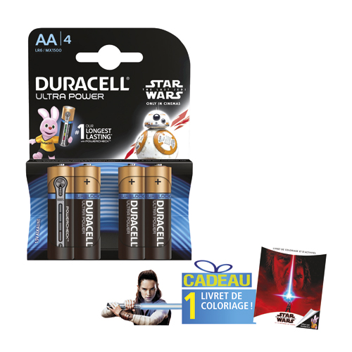 Code 4157362, Désignation: DURACELL Star wars alka ultra power AA X4+coloriage 5000394009769+c